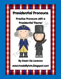 Presidential Pronouns He, She, They, It product from Toadally-Tots on TeachersNotebook.com