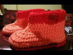 Tutorial babbucce all'uncinetto - zapatillas en crochet - crochet slippers - YouTube