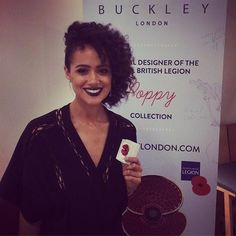 Thanks to the lovely @nathalieemmanuel for visiting Buckley London yesterday #buckleylondon #nathalieemmanuel #poppy #gameofthrones #actress #jewellery #buckleyremembers