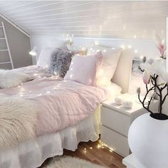 "79 Likes, 2 Comments - Margarita Bloom (@margaritabloom) on Instagram: ""Every room needs fairy lights!! How magical!! And cozy! . . . #fairylights #fairy #magical…"""
