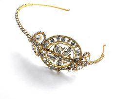 Diamante Gold Vintage Headband