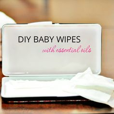 This recipe is a super quick and easy way to make your own baby wipes without the harsh chemicals. Add in your essential oils and you're good to go! DIY Baby Wipes with Essential Oils Ingredi…