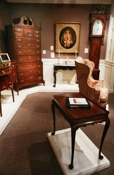 Winter Antiques Show) Antique Show, Corner Desk, Entryway Tables, Antiques, Winter, Furniture, Home Decor, Corner Table, Antiquities