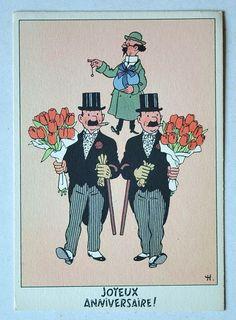 Hergé - Carte Postale / Festive no. 6 - Joyeux Anniversaire! - (ca 1960) - W.B.