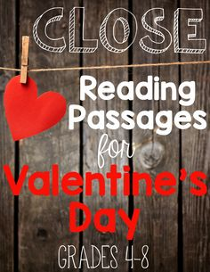 Close Reading Passages for Valentine's Day {Grades 4-8}. Leveled passages and leveled text-dependent questions. Everything you need in one resource! ($)