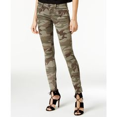 True Religion Casey Camo-Print Skinny Jeans ($178) ❤ liked on Polyvore featuring jeans, olive camo, olive skinny jeans, army green skinny jeans, white denim skinny jeans, camo skinny jeans and skinny fit jeans