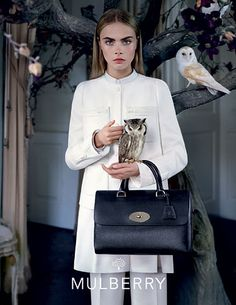 Mulberry F/W'13 Campaign. I take my owls everywhere, too.