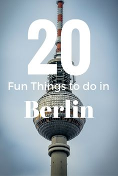 The 20 best Berlin points of interest are listed here. Check out the best things to do and see in Berlin here. Many are free and they are all super fun!
