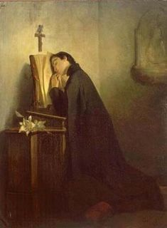 He found in prayer and meditation a new source of mortification. Each morning, on rising, he passed an hour in prayer, and at night, before retiring to rest, he spent one or two hours on his knees in holy converse with his God...