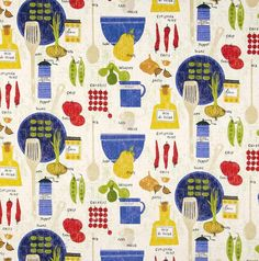NEW ITALIAN COOKING print Valance Cotton 40 x 14  by AVintageLook, $21.00
