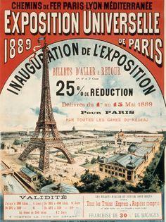 エッフェル塔は当時人気の場所だった。現在もその人気は高まっている。