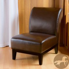 $214 Christopher Knight Home Darcy Brown Leather Slipper Chair | Overstock.com Shopping - Great Deals on Christopher Knight Home Chairs