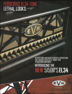 42212c484f8 Details about EVH 5150 III S EL34 guitar amp 8 x 11 advertisement 2016  print Eddie Van Halen