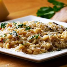 One-Pot Bacon And Wild Mushroom Risotto Recipe by Tasty