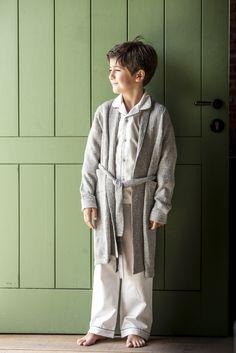 Warm grey #alpacawool #dressinggown for little boys from #LettsDream. #bata #cool #nice #fashion #elegant #moda
