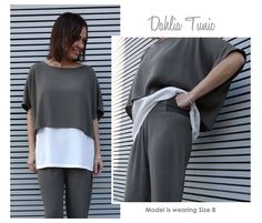 Dahlia Tunic Sewing Pattern By Style Arc