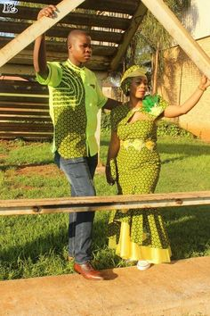 Top Green shweshwe dresses for 2018 - Reny styles Shweshwe Dresses, African Attire, Traditional Dresses, Outfit, Hot, Clothes, Design, Style, Plaid Dress