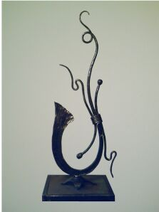 Blacksmith Forged Ironwork Table Sculpture image.