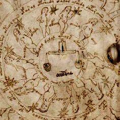 Libra / October, from the Voynich Manuscript. XV Century.