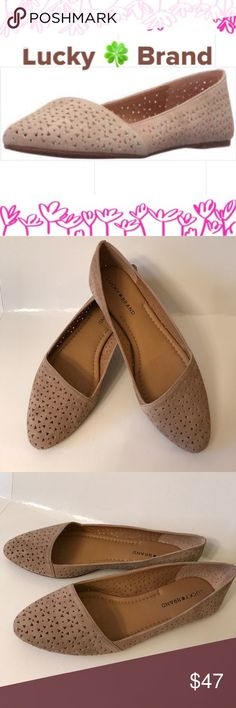 NWT Lucky Brand Flats Brand new with box. The color is a light tan. So beautiful and compy. Size 8 Lucky Brand Shoes Flats & Loafers