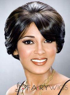 Discount Short Wavy Black African American Wigs for Women 8 Inch