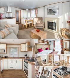 """Don't miss out on the """"Carnaby Serenade Lodge"""" at the idyllic Aberconwy Resort. With 2 bedrooms, a stunning kitchen & a beach on your doorstep - View Now! Remodeling Mobile Homes, Home Remodeling, Home Look, Interior Design Kitchen, Sweet Home, New Homes, House Design, Caravan Interiors, Caravan Ideas"""