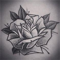 Instagram photo by alex_tabuns - #tattoo #tattoos #dotwork #rose