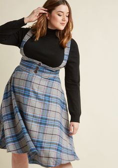 Collectif Sentimental Sway Midi Jumper in XS - Full Skirt by Collectif from ModCloth Curvy Fashion, Plus Size Fashion, Girl Fashion, Fashion Outfits, Mode Top, Mode Plus, Curvy Girl Outfits, Plus Size Outfits, Look Plus Size