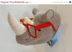 ON SALE Handmade Faux Taxidermy   Hipster Glasses by WeftandWhimsy