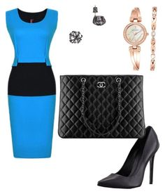 """Wednesday"" by bridgnawa on Polyvore featuring ABS by Allen Schwartz, Schutz, Chanel and Anne Klein"