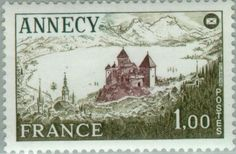 Sello: Annecy: Congress of the French Federation of Philatelic (Francia) (Events) Yt:FR 1935,Mi:FR 2031,Sn:FR 1541