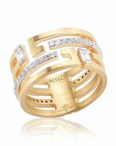Ivanka Trump fine jewelry was designed for the woman whose style emboldens elegance and sophistication with spirit. This ring expresses a refreshing take on tradition with deco design and decadent diamonds.