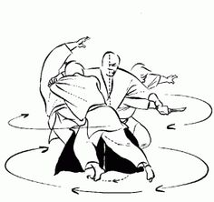"From one of the best books about Aikido ""Aikido and the Dynamic Sphere: An Illustrated Introduction"" by Adele Westbrook and Oscar Ratti"