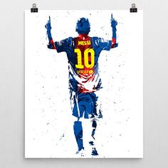 "Lionel Andrés ""Leo"" Messi poster. An Argentine professional footballer who plays as a forward for the Argentina national team and Spanish club Barcelona. Considered the best player in the world and ra"