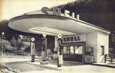 Art Deco Shell station