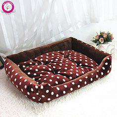 BOSUN(TM) Dot Print Dog Cat Bed Soft Fleece Winter Warm Puppy House Dual Using Pet Dog Kennel M/L/XL cama perro *** Check out the image by visiting the link. (This is an affiliate link and I receive a commission for the sales)