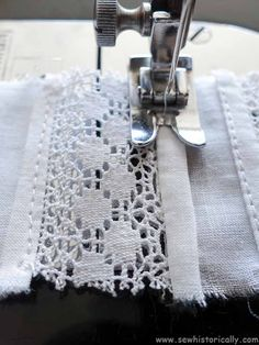 6 Ways How To Insert Lace - Heirloom Sewing Tutorial - Sew Historically Easy Sewing Projects, Sewing Projects For Beginners, Sewing Tutorials, Knitting Projects, Sewing Crafts, Tutorial Sewing, Smocking Tutorial, Dress Tutorials, Wood Projects