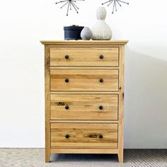 Hereford Rustic Solid Oak Chest Drawer (Size Slim, Medium) -  - Chest Of Drawers - Ametis - Space & Shape - 1