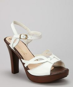 a261f6a560eec Passarela Brazil White Leather Ankle-Strap Sandal