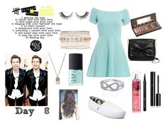 """""""Day #8 please like and follow!!?"""" by heyyitsmelissa5sos ❤ liked on Polyvore featuring AX Paris, TOMS, With Love From CA, NARS Cosmetics, Rimini, Chanel, Bobbi Brown Cosmetics, Urban Decay, Sam & Libby and Lane Bryant"""
