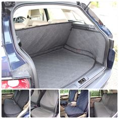 2in1 BLACK DOG BOOT LINER REAR SEAT COVER For AUDI Q3 2.0 TDI Quattro sline 2015