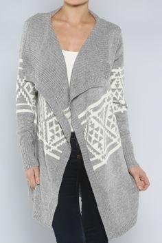 Western Open Cardigan #wholesale #winter #cardigan #sweater #pants #jacket #sweater #fashion #clothing #ootd #wiwt #shopitrightnow #graphics #patterns