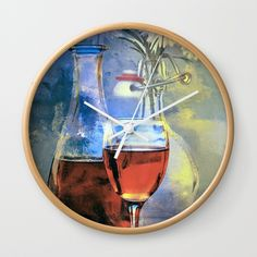 """Enchanted Evening Blues #Bath #Mat by Theresa Campbell D'August Art-https://society6.com/daugustart?promo=XZ3WY26P3CNJ Click my link above for 20% off and free shipping #SALE on everyt-Available in natural wood, black or white frames, our 10"""" diameter unique Wall Clocks feature a high-impact plexiglass crystal face and a backside hook for easy hanging. Choose black or white hands to match your wall clock frame and art design choice. Clock sits 1.75"""" deep and requires 1 AA battery (not…"""
