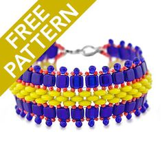 Fantastic Frills Bracelet Pattern for Czechmates | Fusion Beads
