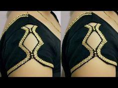 बाजु कट क्रिएटिव ब्यूटीफुल स्लीव डिजाईन ll easy making Blouse Designs High Neck, Simple Blouse Designs, Neck Designs For Suits, Stylish Blouse Design, Fancy Blouse Designs, Latest Blouse Neck Designs, Kurti Sleeves Design, Sleeves Designs For Dresses, Sleeve Designs