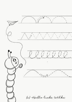 Druckbares Arbeitsblatt: Schwungübungen für Kinder (Kindergarten und ...