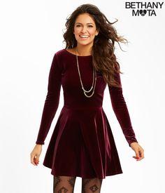 Solid Velvet Dress - Aeropostale possible Xmas dress