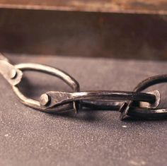 Sterling silver handmade oxidized chain one of a kind. Ann Hartley