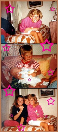 Candid shots of Diana with the boys, former flatmate Carolyn Bartholomew and her son, Jack.