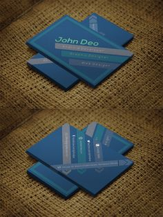 Bluish Business Card for the Designers!